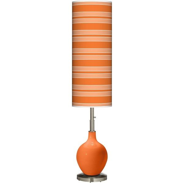 Superb Color Plus Invigorate Bold Stripe Ovo Floor Lamp ILS liked on Polyvore