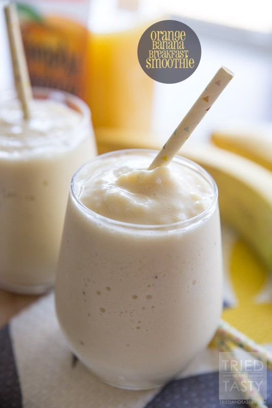Orange Banana Breakfast Smoothie | Looking for a great smoothie for breakfast? Try this fruity combo that is cool, refreshing, and delicious! | Tried and Tasty