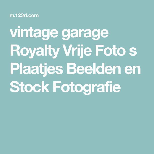 vintage garage Royalty Vrije Foto s Plaatjes Beelden en Stock Fotografie