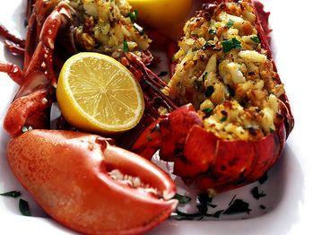 """""""Baked Stuffed Lobster"""" from Cookstr.com #cookstr"""