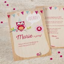 Uitnodigingen | Tadaaz #verjaardagsfeestje #verjaardag #feestje #uil #meisje #magneet #snoepzakje #vlaggetjes #lief