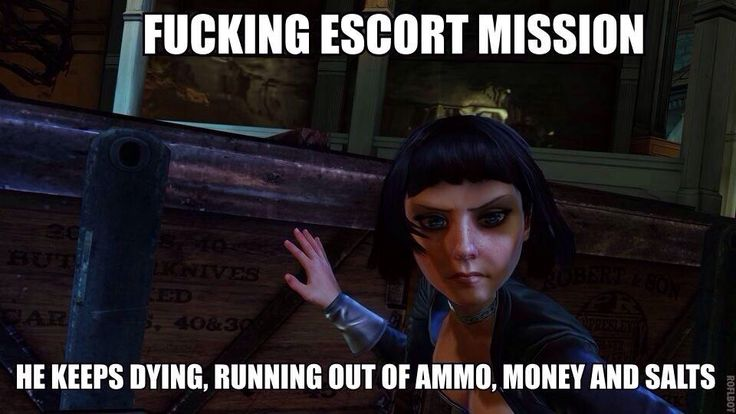 I love how we all eventually had that moment where we realized Elizabeth was really the one escorting us. The brilliance of Bioshock.