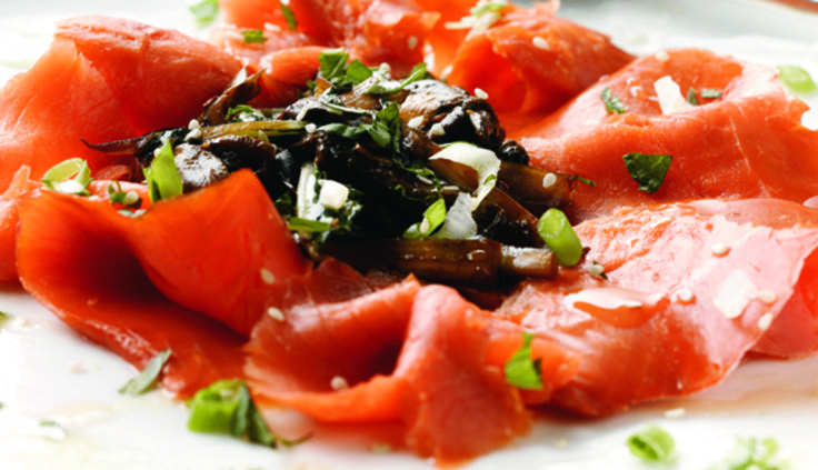 Smoked Salmon Carpaccio!  I think it is time to get cooking!