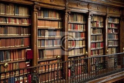 Fotobehang Bibliotheekboeken