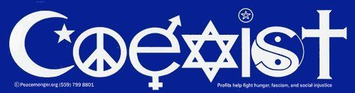 Coexist Magnetic Bumper Sticker Peacemonger https://www.amazon.com/dp/B002MAJAES/ref=cm_sw_r_pi_dp_x_4UATybXD3ZZ8S