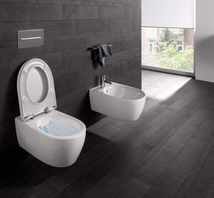 Sphinx Rimfree toilet zonder spoelrand. Dit spoelrandloze toilet heeft geen verborgen plekken waar zich vuil kan afzetten, waardoor het toilet makkelijker schoon te maken is.