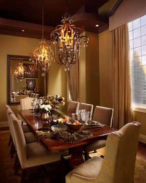 Traditional Dining Photos Old World Style Curtains Design Ideas, Pictures, Remodel, and Decor - page 14