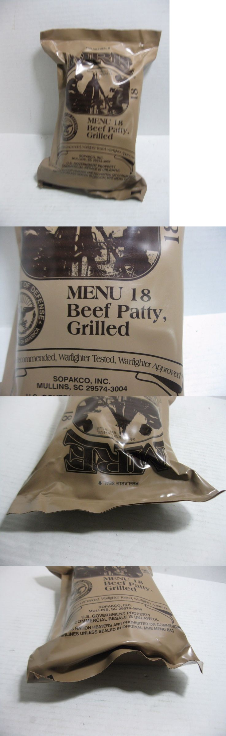Food And Drink: Mre Menu 18 Grilled Beef Patty Sealed Ready To Eat Meal Individual BUY IT NOW ONLY: $19.95