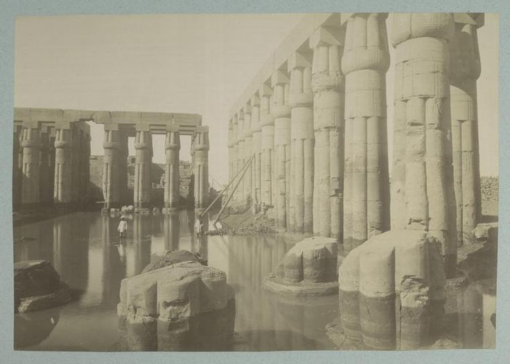 Title: Louxor: vue du temple Date: 1886 to 1888 Photographer: ? From: The New York Public Library Digital Collections