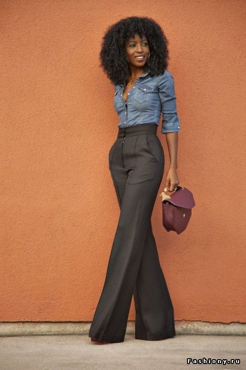 A tailored high waisted wide leg pant, preferably in my color palette