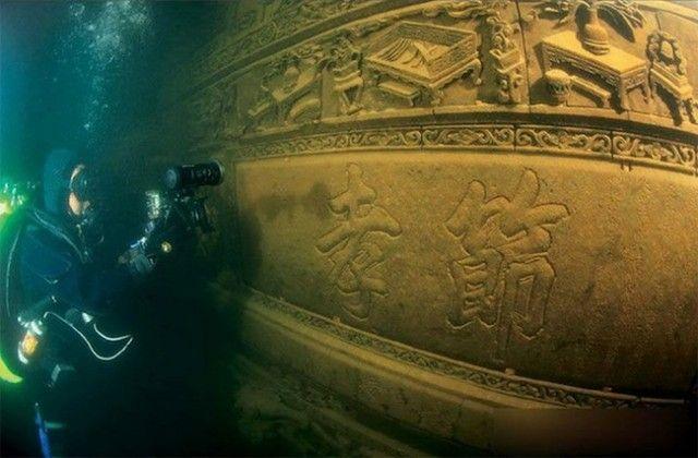 Photographies d'une cité perdue sous-marine chinoise