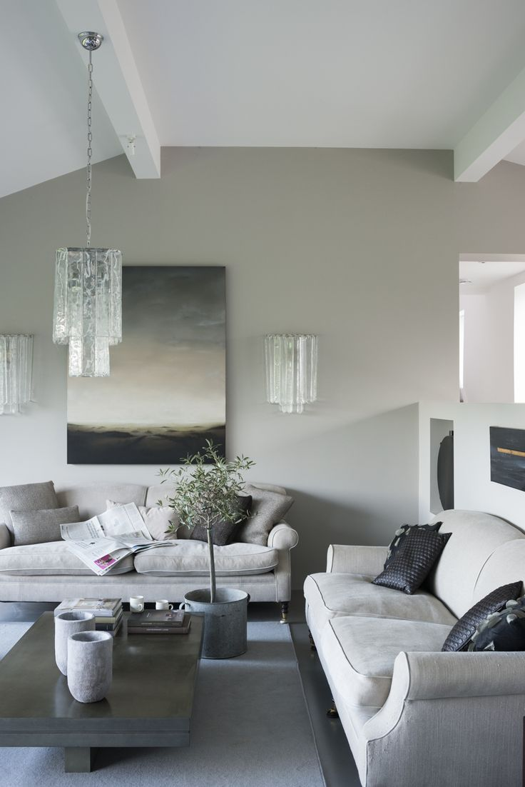 Squishy Sofas Teamed With A Contemporary Grey Colour Palette We Love Image Livingetc Living RoomsLiving Room