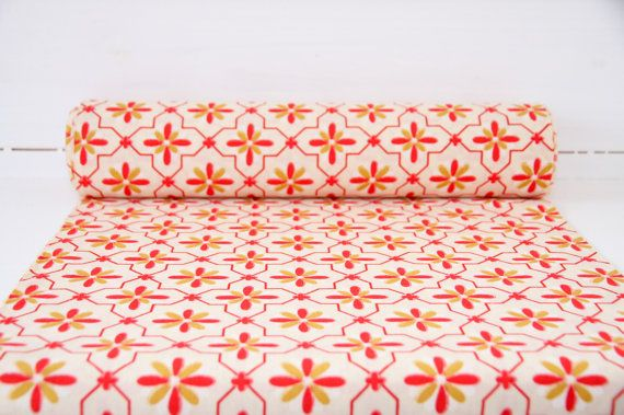 Make Kimono: Red and Yellow Floral Authentic Japanese by CJSTonbo
