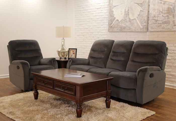 canapea moderna pentru living material textil 2 reclinere
