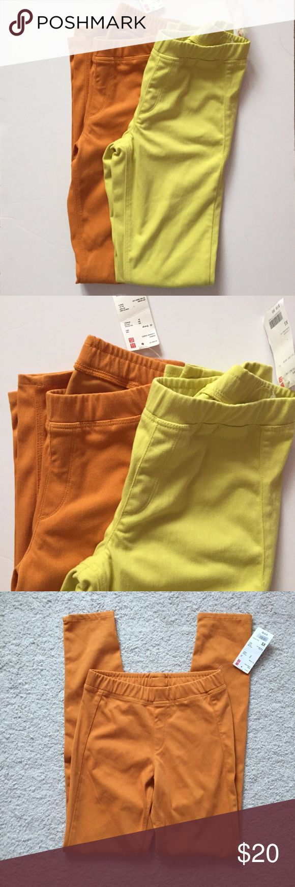 🎀2 NWT Uniqlo Leggings🎀 Brand new with tag. Never worn. Bright colors for the Spring and Summer. Price is for both. Uniqlo Pants Leggings