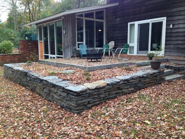 Wall building in ma natural path landscaping landscaping pinterest paths landscaping - Building river stone walls with mortar sobriety and elegance ...
