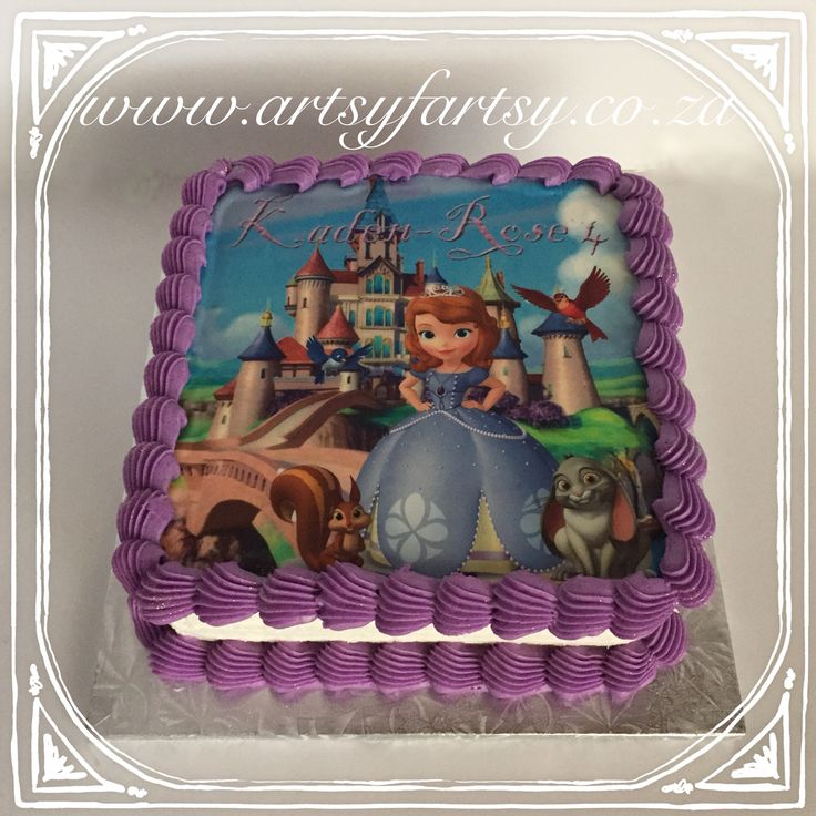 Sofia the First Edible Picture Cake #sofiathefirstediblepicturecake