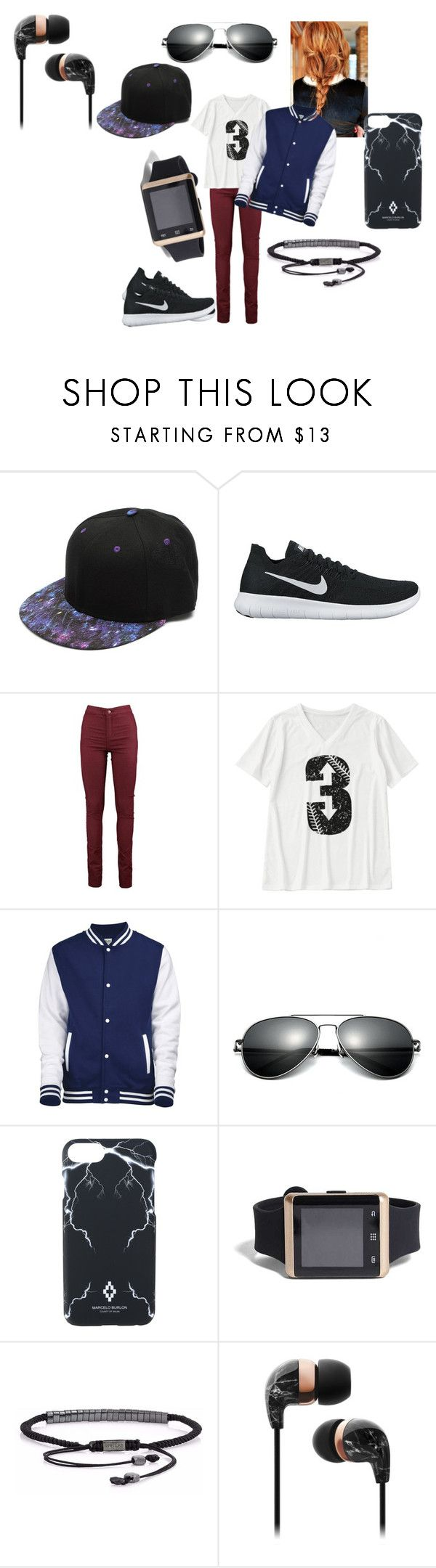 """Tomboy"" by bethecaptain on Polyvore featuring NIKE, Marcelo Burlon and 21 Men"