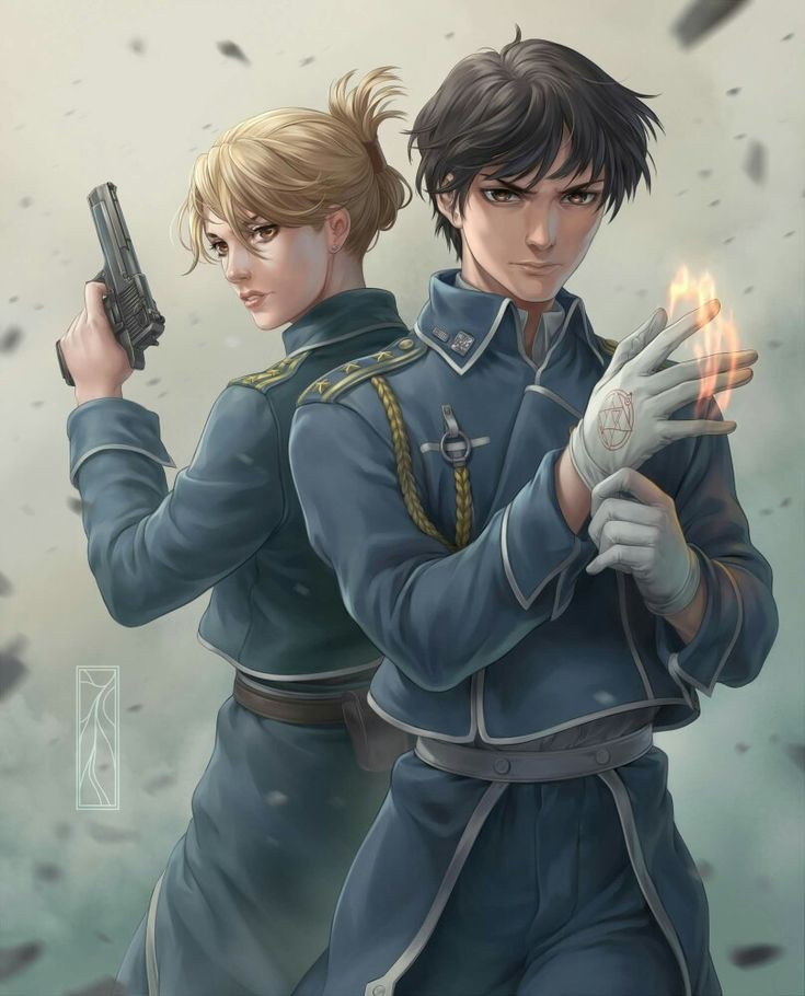 Realistic Roy Mustang and Riza Hawkeye, Royai