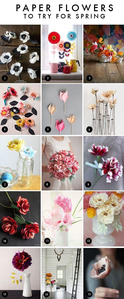 a whole bunch of paper flower diys [The House That Lars Built.: Best paper flowers]