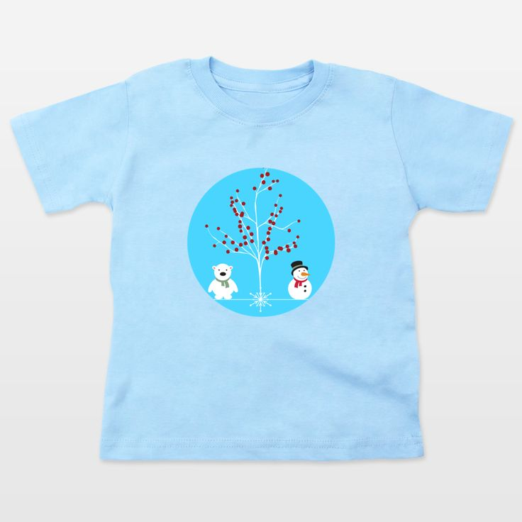 Shop for unique nursery art like the winterland Toddler T-Shirts by haroulita on BoomBoomPrints today!  Customize colors, style and design to make the artwork in your baby's room their own!
