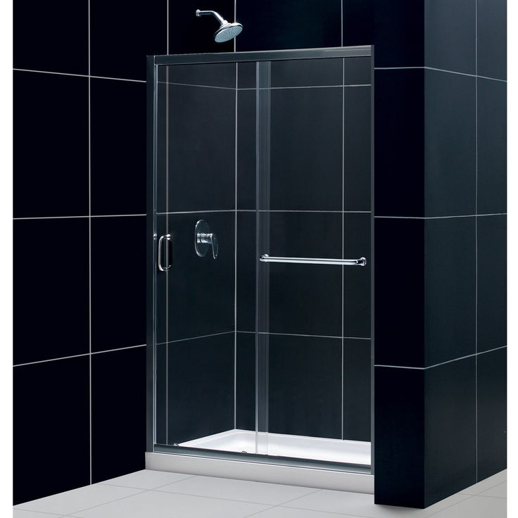 DreamLine Infinity-Z 44 to 48-inch Frameless Sliding Shower Door | Overstock™ Shopping - Big Discounts on DreamLine Shower Doors