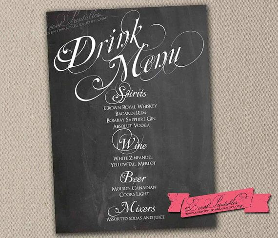 1000+ images about Chalkboard on Pinterest | Cocktail menu ...