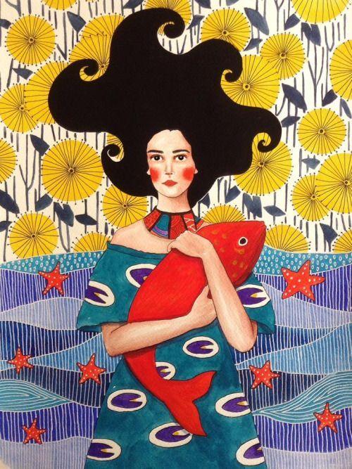 Hulya Ozdemir, acquerelli magici dai mille colori • Illustrazione