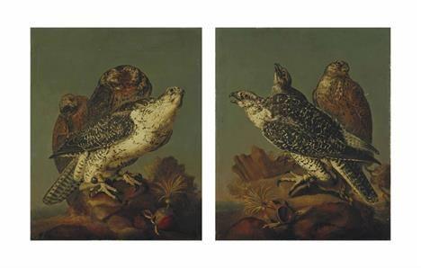 Hawk & Kite by CHRISTIAAN LUYCKX (ANTWERP 1623-1653)