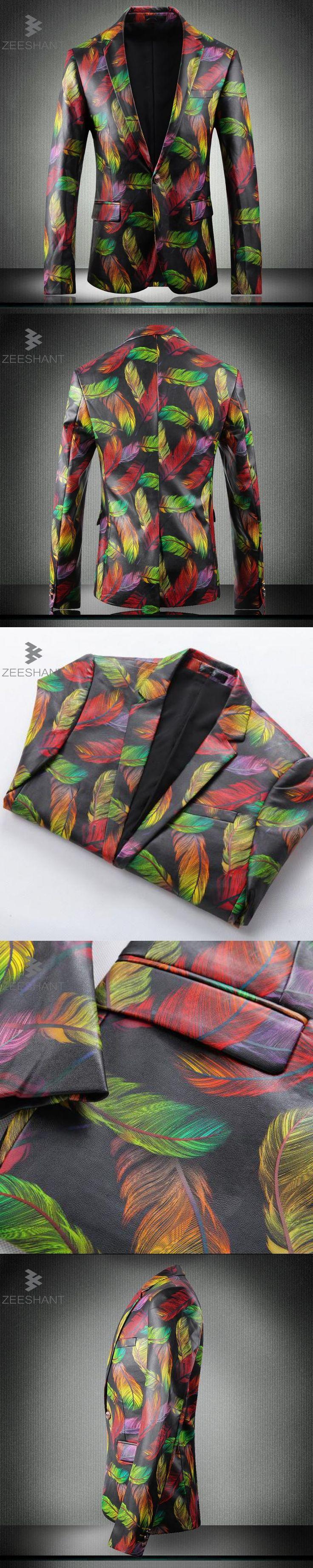 ZEESHANT Hot Sale Brand Clothing Men Blazer Fashion Cotton Suit Blazer Slim Fit Masculine Blazer Casual Floral Male Suits Jacket