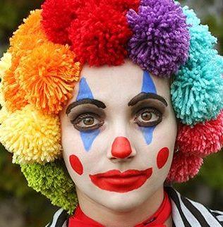 maquillage clown fille peur. Black Bedroom Furniture Sets. Home Design Ideas