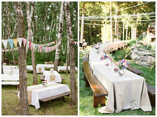 Y para gustos los colores porque hay diferentes opciones: desde montar mesas de madera y decorarlas con flores y hierbas naturales hasta colocar manteles directamente sobre la hierba y disfrutar junto a vuestros amigos y familiares de un momento relajado, divertido y delicioso.