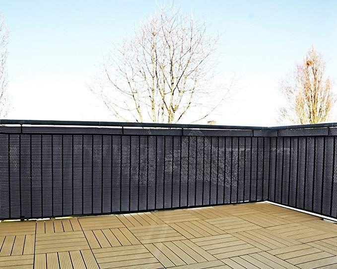 Coperture Per Recinzioni Giardino.Gartenfreude Frangivista In Polyrattan Per Balcone O Recinzione