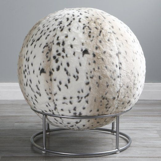 Best Home Fashion Lynx Kushy Cushy Faux Fur Yoga Ball
