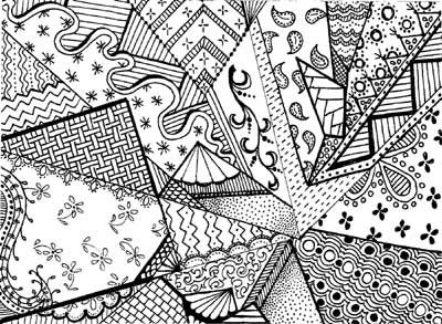 this would look good as blackwork or any monochomatic scheme... I think i'm realizing I cannot be afraid to use my own doodle aesthetic in artwork and stitching... it's visually interesting and somehow real.