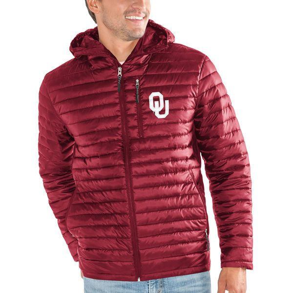 Oklahoma Sooners G-III Sports by Carl Banks Equator Quilted Full-Zip Jacket - Crimson - $99.99