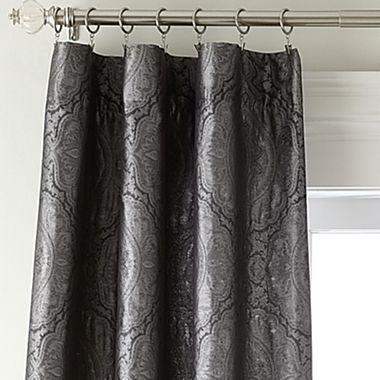 Royal Velvet® Madrid Back-Tab/Rod-Pocket Curtain Panel - jcpenney ...