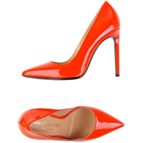 Marco Barbabella Court ($265) ❤ liked on Polyvore featuring shoes, pumps, red, red stiletto shoes, red leather shoes, stiletto heel pumps, leather shoes and leather pumps