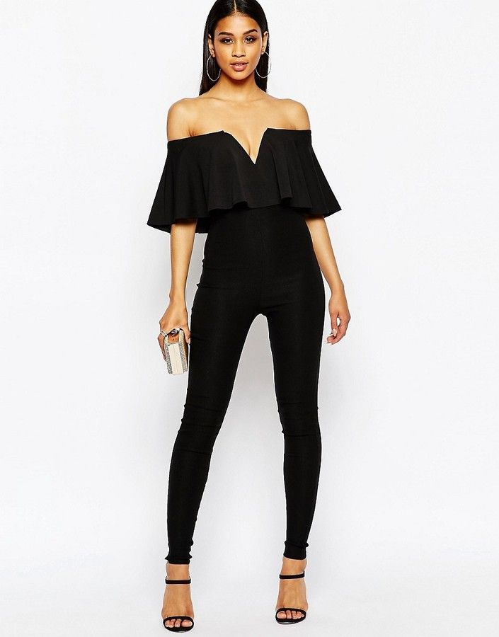 Rare London Off Shoulder Jumpsuit - Black. Wedding ... - 75 Best Jumpsuits Images On Pinterest Jumpsuits, Kitty And