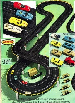 slot cars my sister i had one not sure why i think my