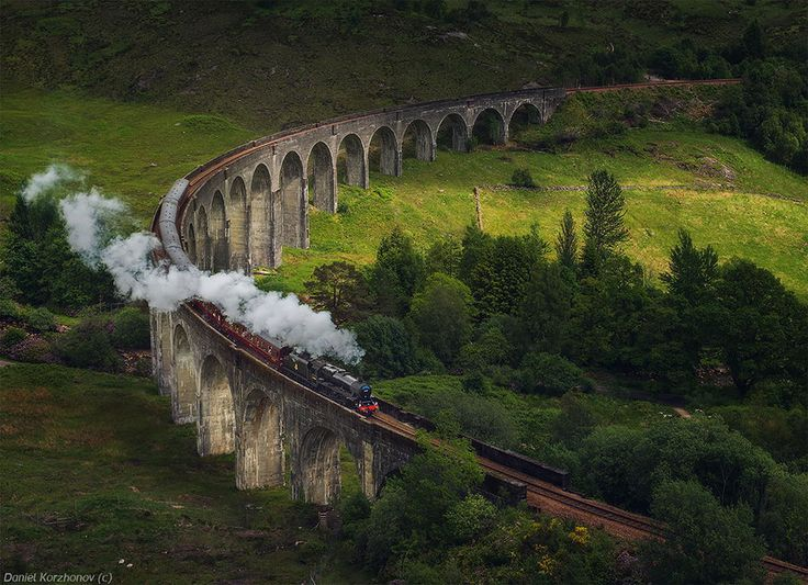 Glenfinnan Viaduct, Scotland  Wayne and I saw this bridge when we visited Scotland in April, 2014.
