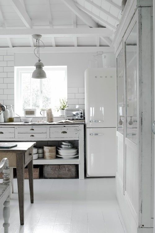 White Kitchen with an old look