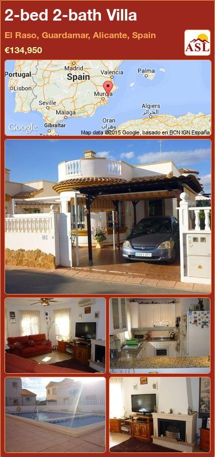 2-bed 2-bath Villa in El Raso, Guardamar, Alicante, Spain ►€134,950 #PropertyForSaleInSpain