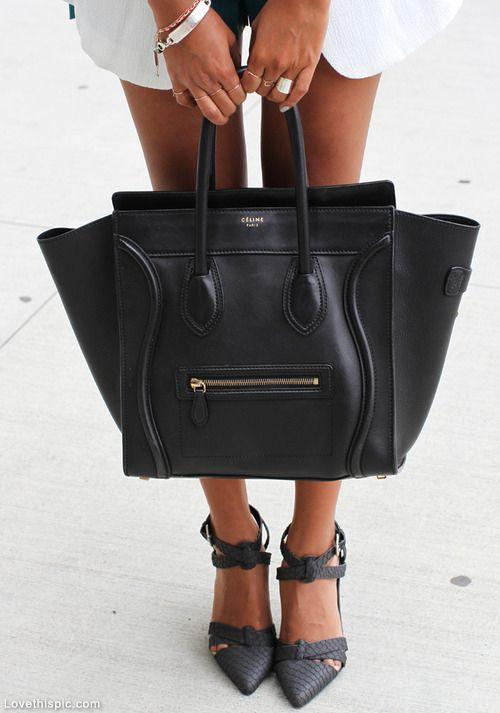 Celine Bag fashion black designer bag celine
