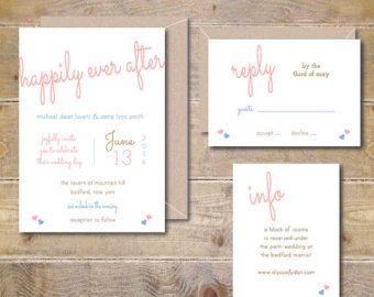 Rustikale Hochzeitseinladungen rustikale von SweetBellaStationery