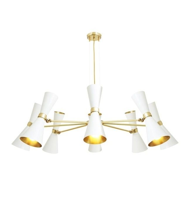 This Sophisticated Cairo Chandelier By Mullan Lighting Melds A Mid Century Modern Style With Futuristic Bent