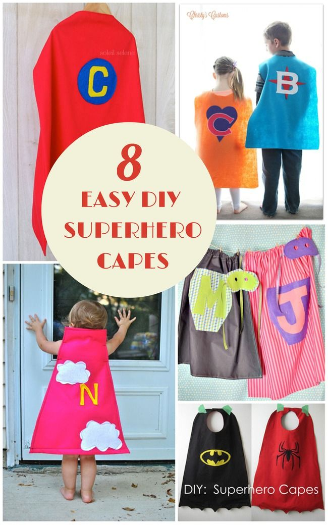 Make your little superhero a cape to fit his or her super powers with these easy DIY capes.