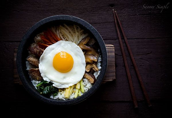 don't need a dolsot (a heatable stone bowl) to make your own bibimbap ...