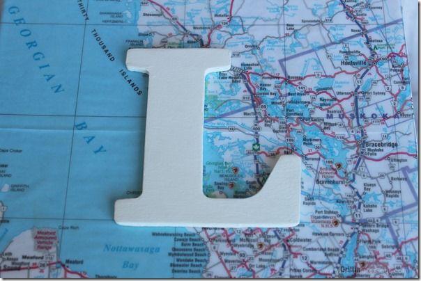 DIY Monogram Map Keepsake Box