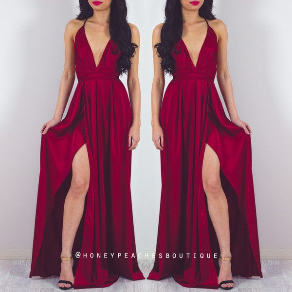 Pre-Order: The Way I Love You Maxi Dress - Maroon ($62) ❤ liked on Polyvore featuring dresses, loose dresses, maroon long dress, maroon maxi dress, elastic waist maxi dress and long length dresses